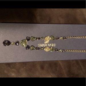 Swarovski purple and grey crystal necklace